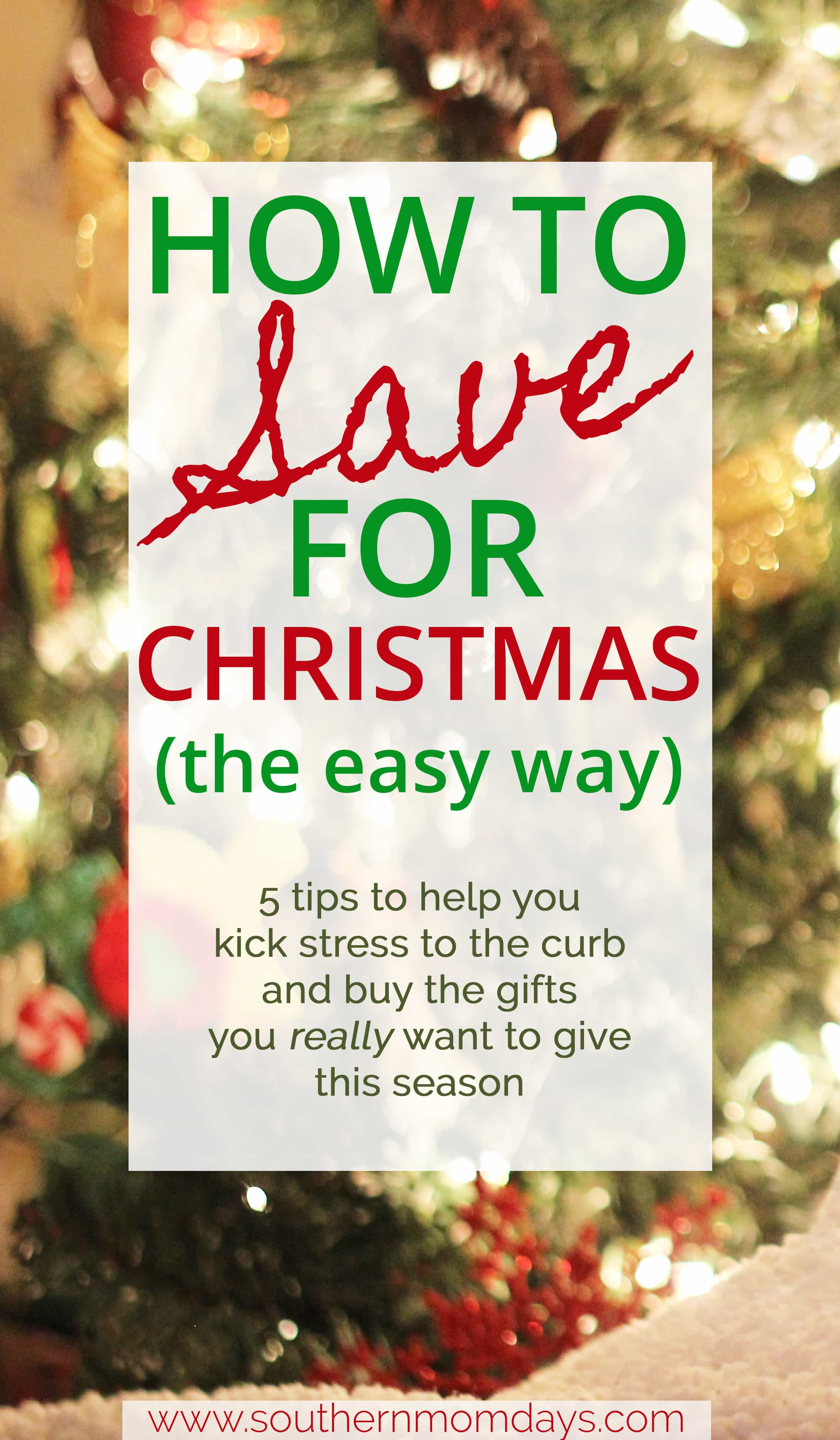 How to Save for Christmas (the Easy Way) featured in a holiday budget guide on the Southern Momdays blog
