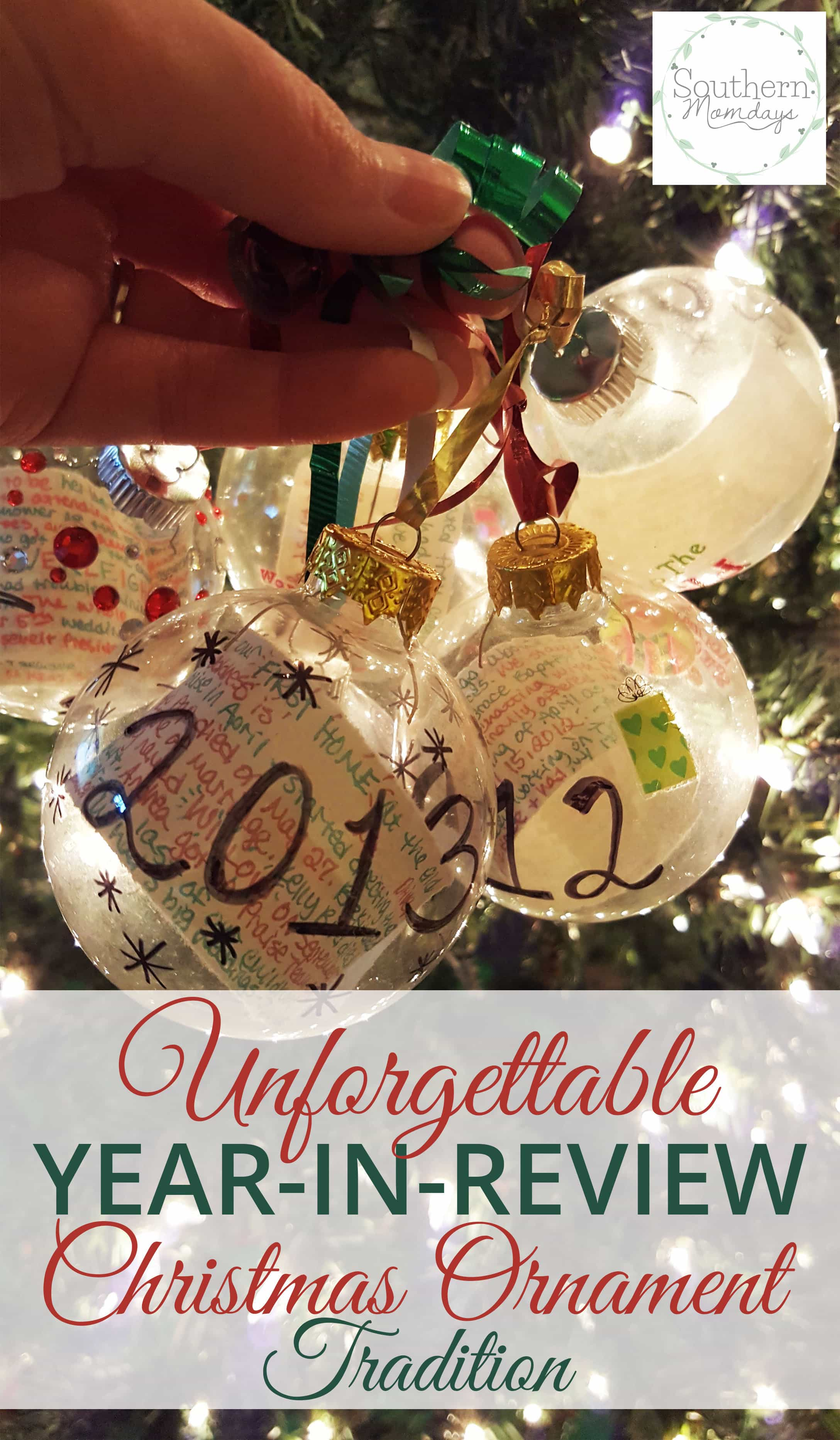 the unforgettable year in review christmas ornament tradition that my husband loves featured - What To Buy My Husband For Christmas