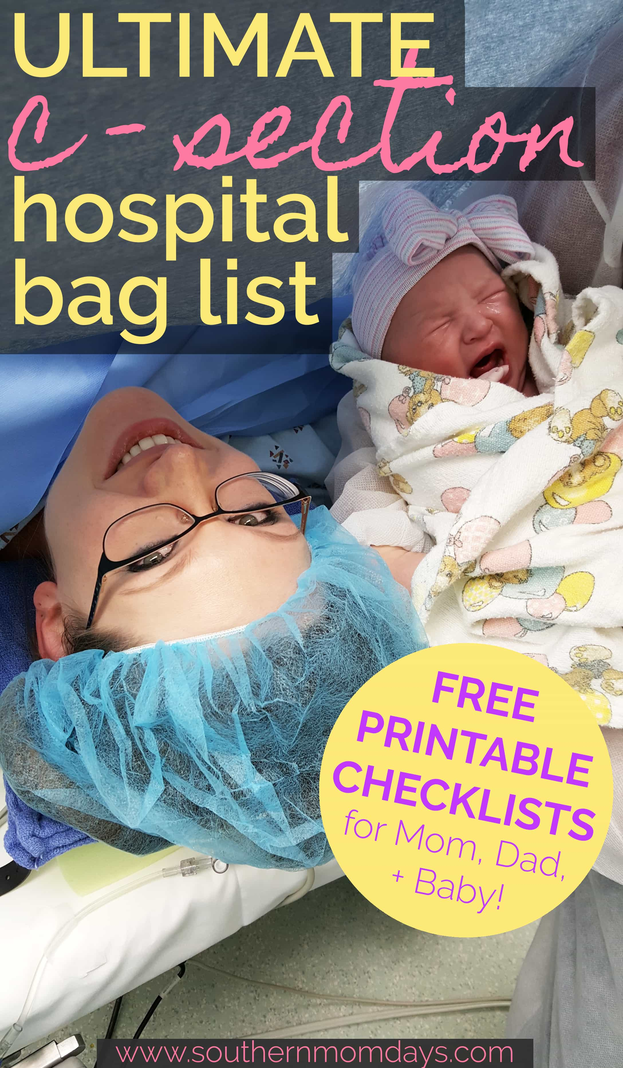 Ultimate C-Section Hospital Bag List: All You Need + Need ...