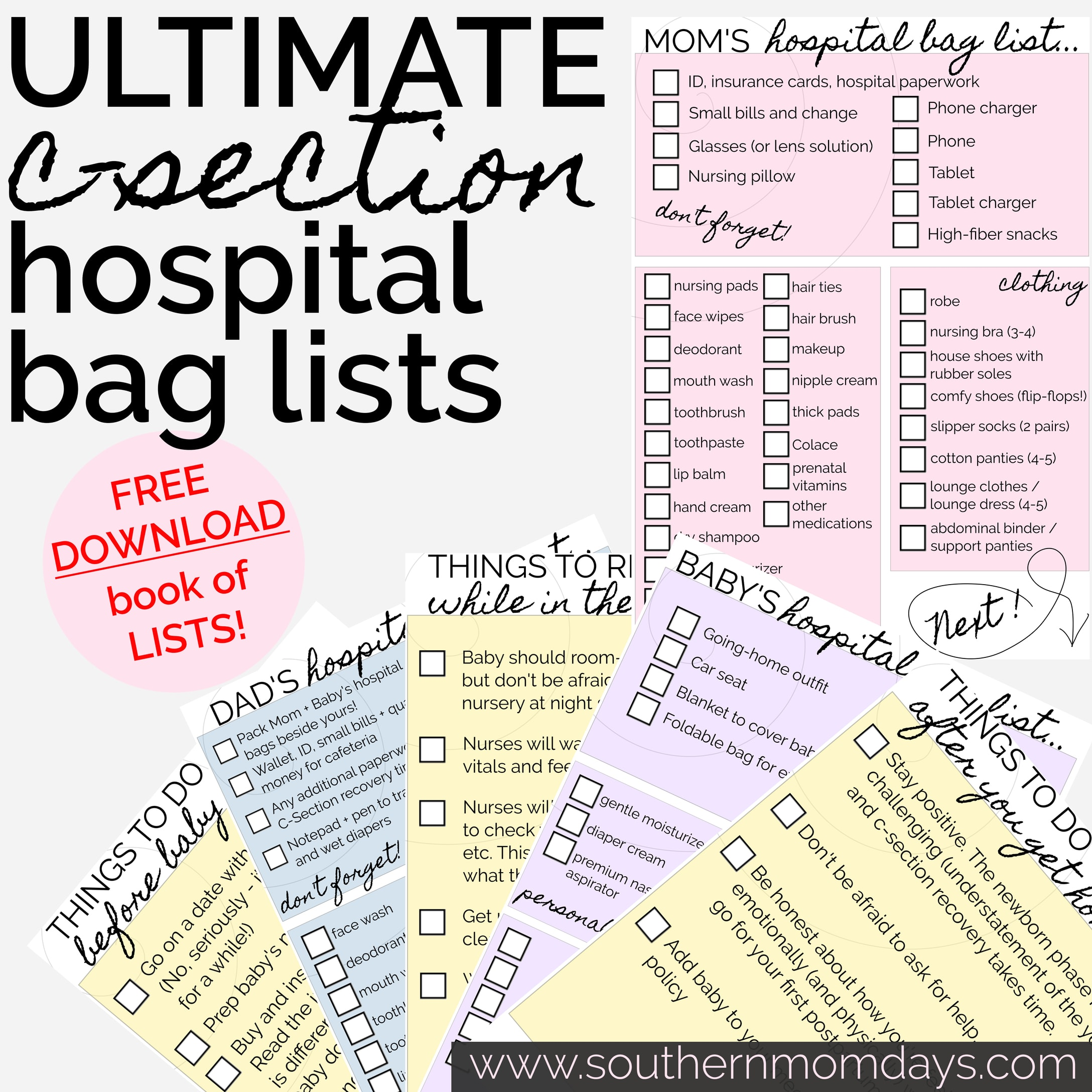 Ultimate C Section Hospital Bag List Including What You Need And