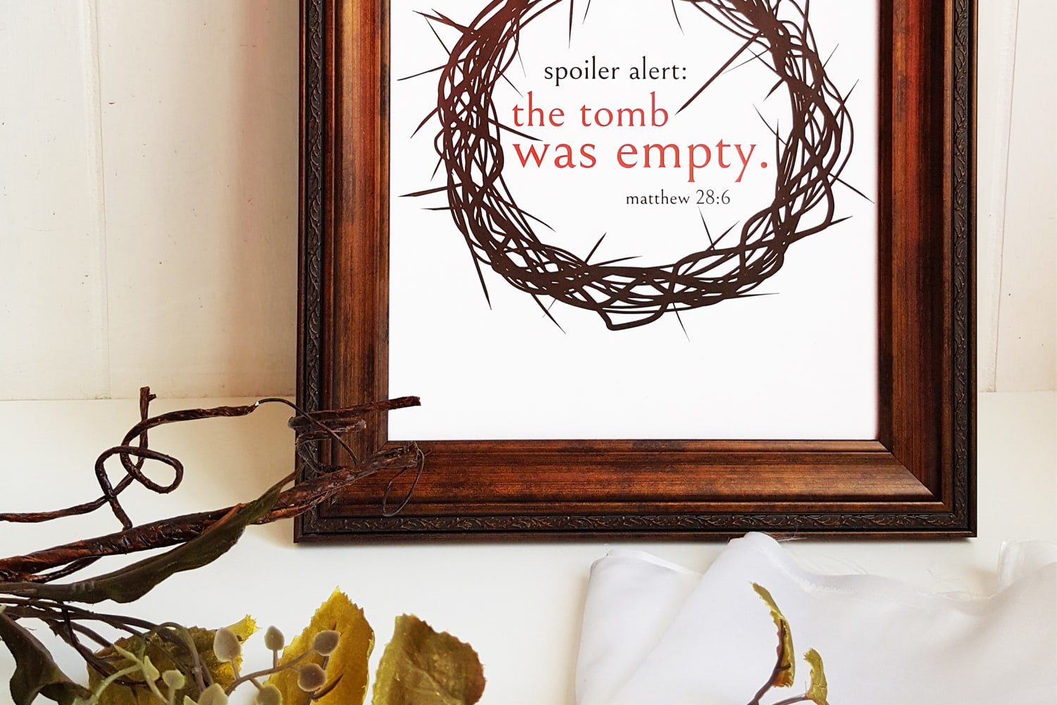 Free Easter printables from Southern Momdays, Spoiler Alert: The Tomb Was Empty!