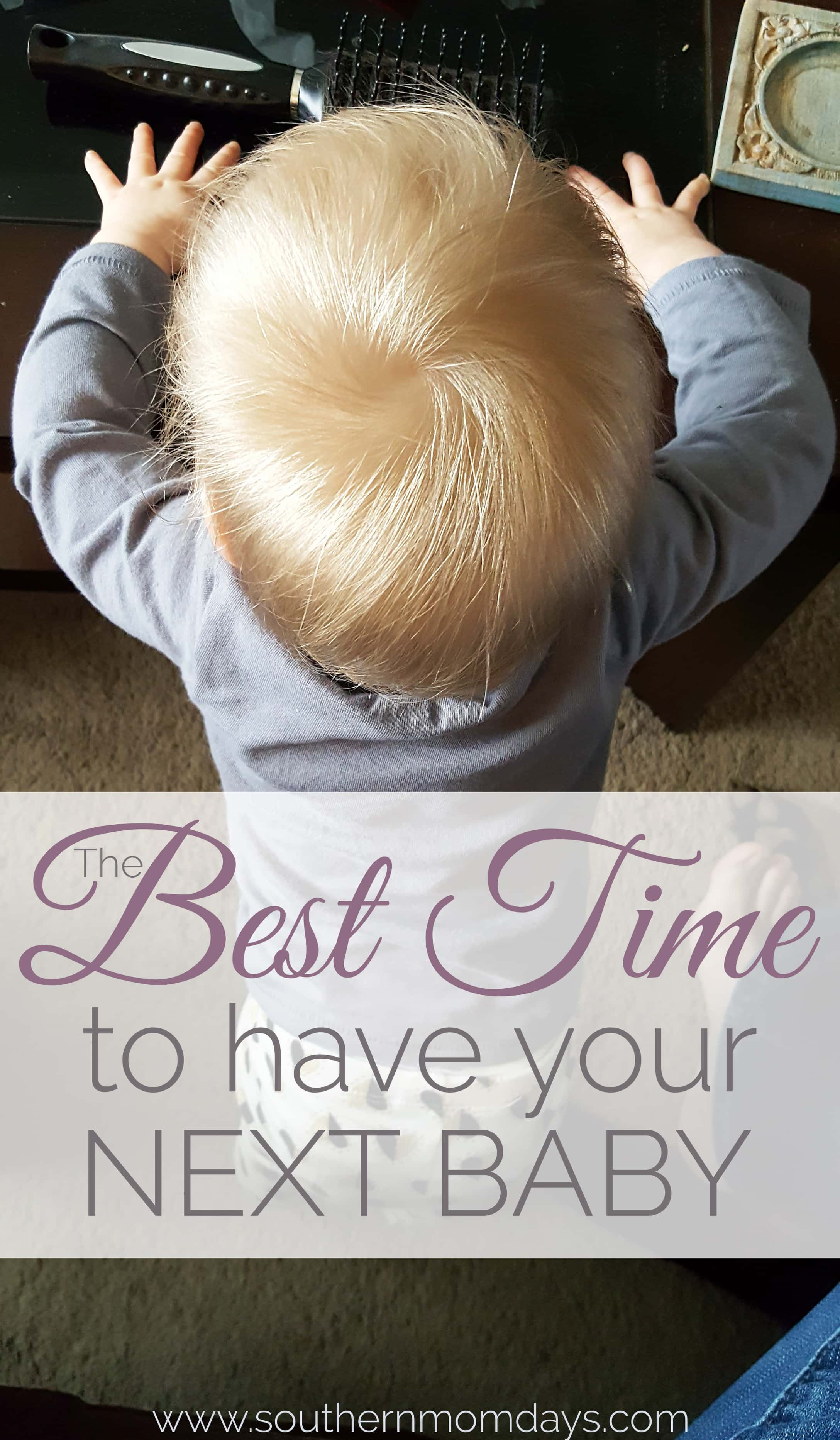How to find the best time to have your next baby, featured on the Southern Momdays blog