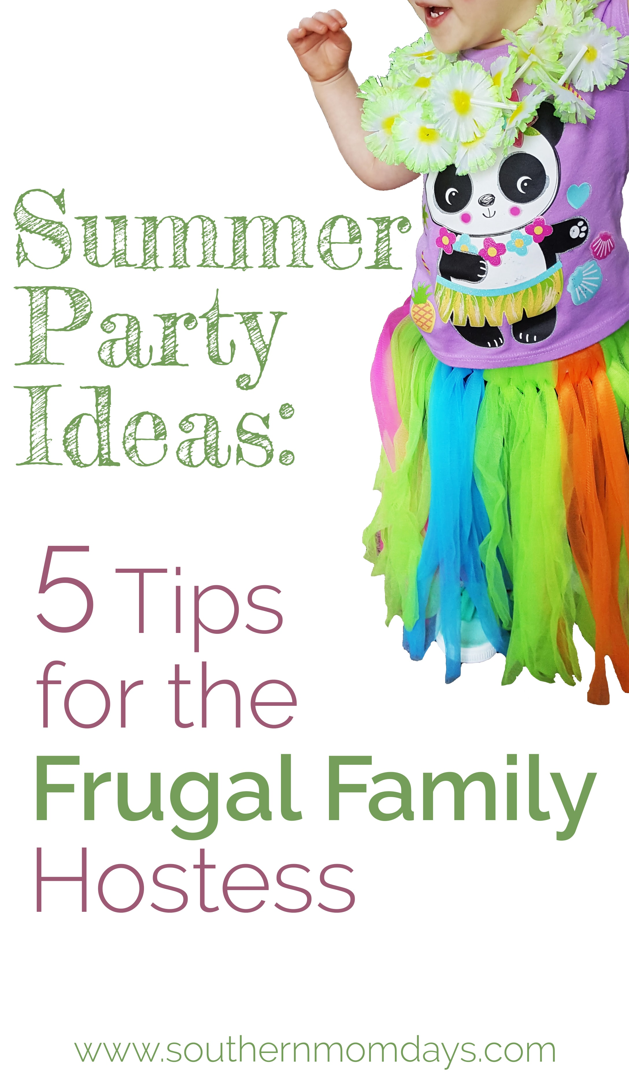 Summer party ideas including 5 tips for the frugal family hostess, featured on the Southern Momdays blog