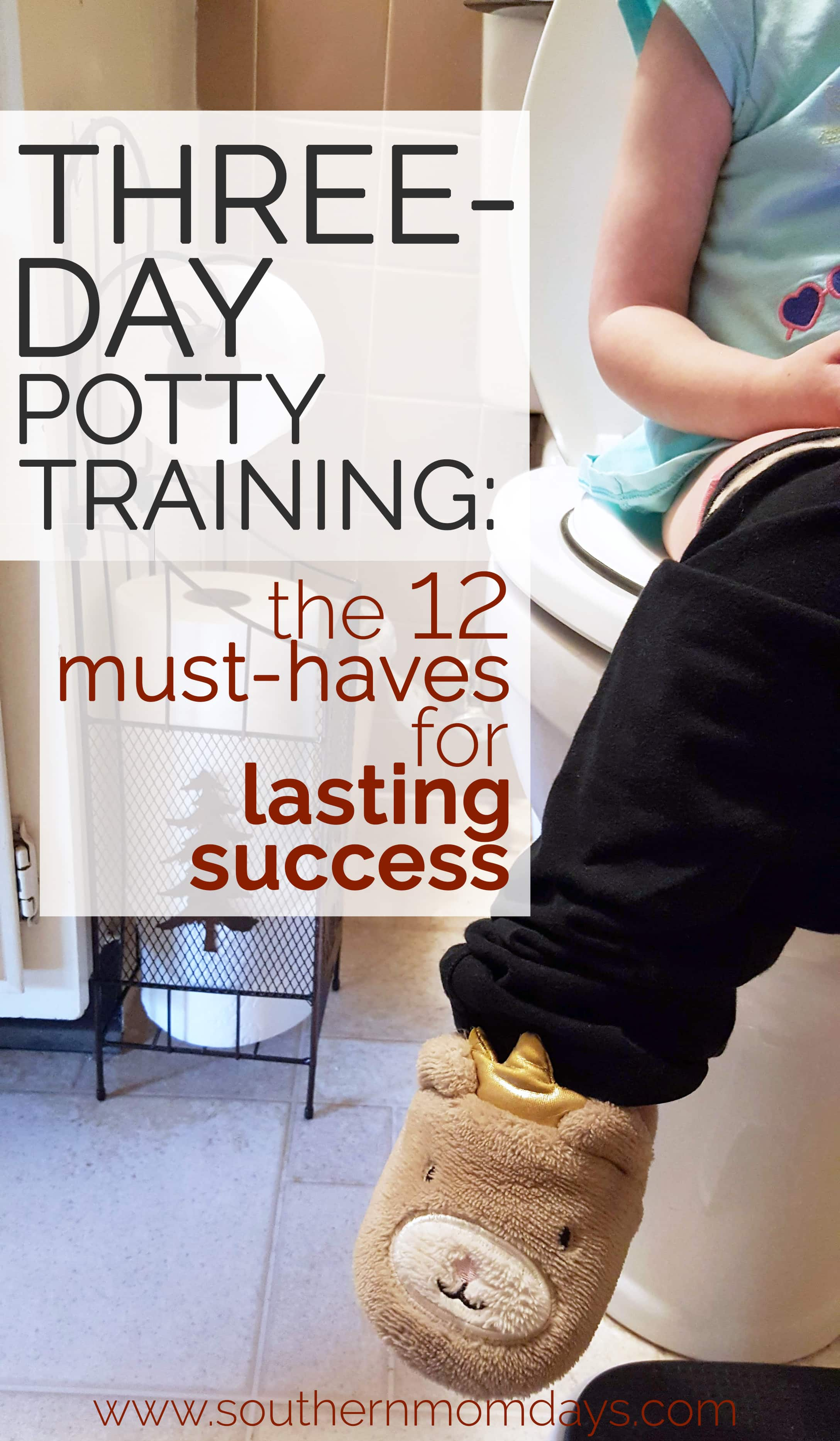 Three-Day Potty Training: 12 Must-Haves for Lasting Success, featured on Southern Momdays